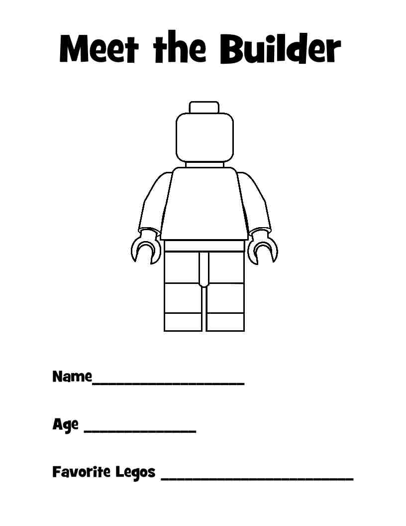 It's just a picture of Irresistible Lego Minifigure Printable