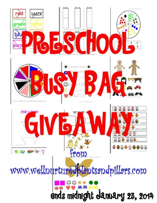 Busy Bag GiveAWAY